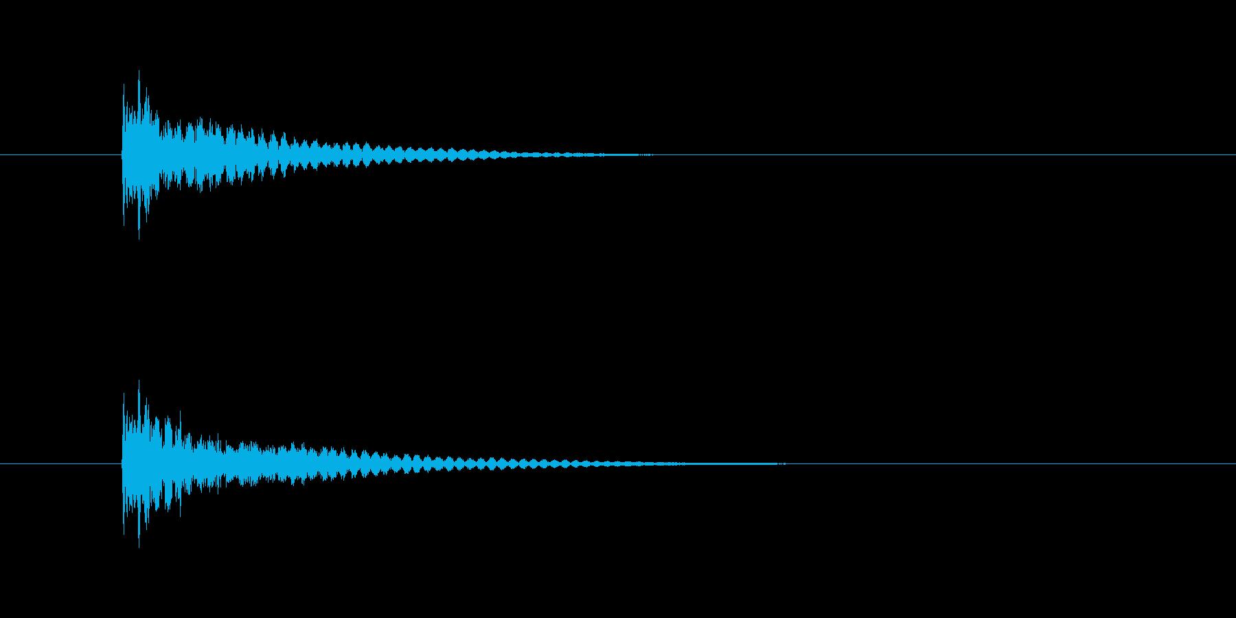 テレンの再生済みの波形