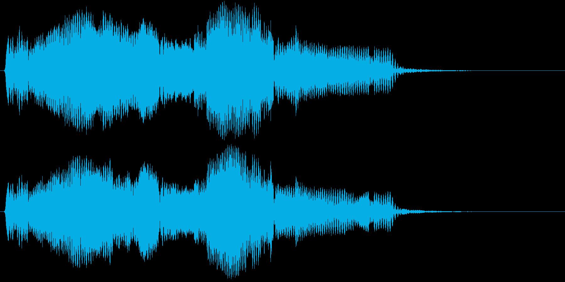 音侍SE「尺八フレーズ1」エニグマ音09の再生済みの波形