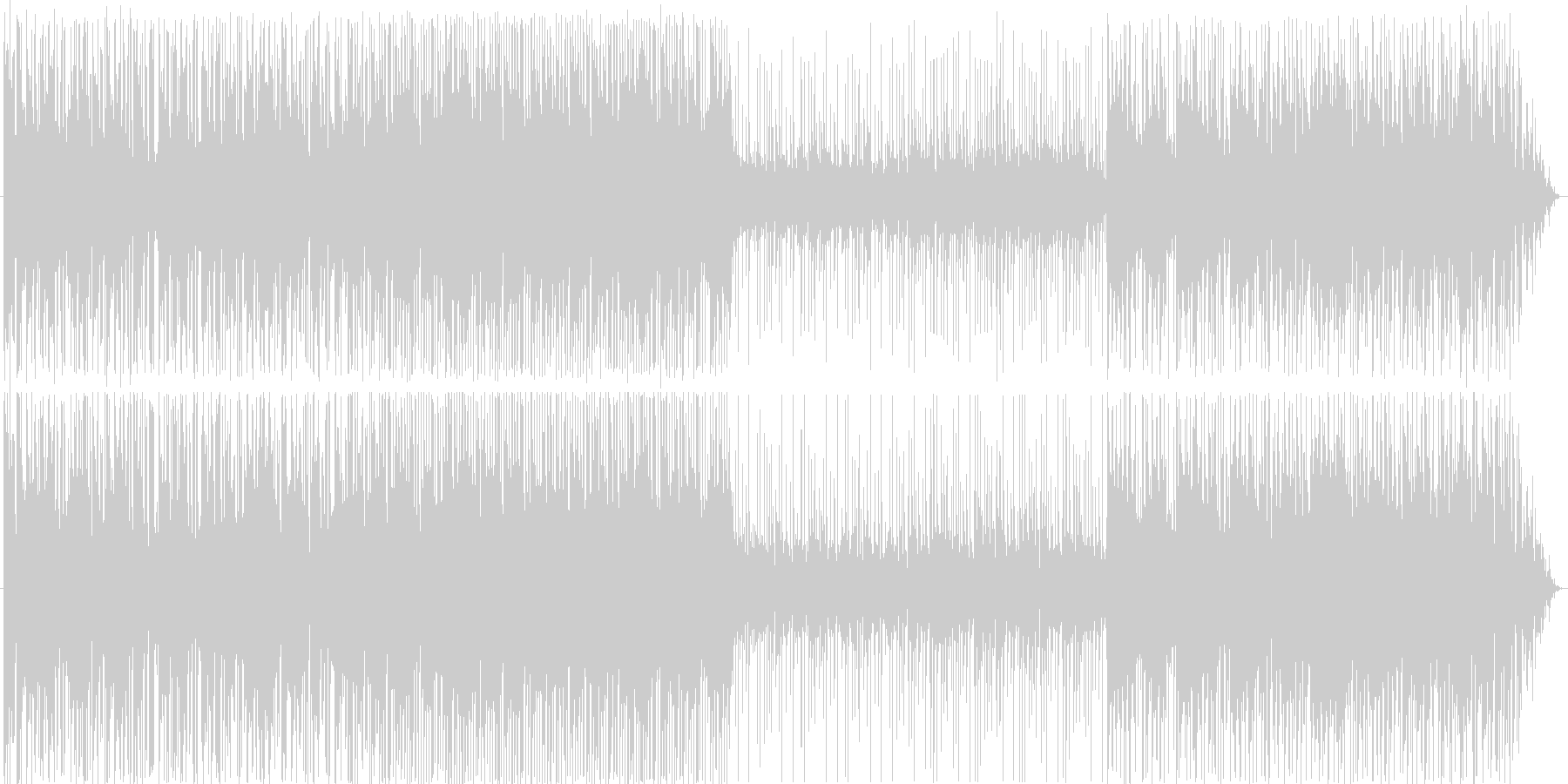 少しジャズっぽくムーディーの未再生の波形