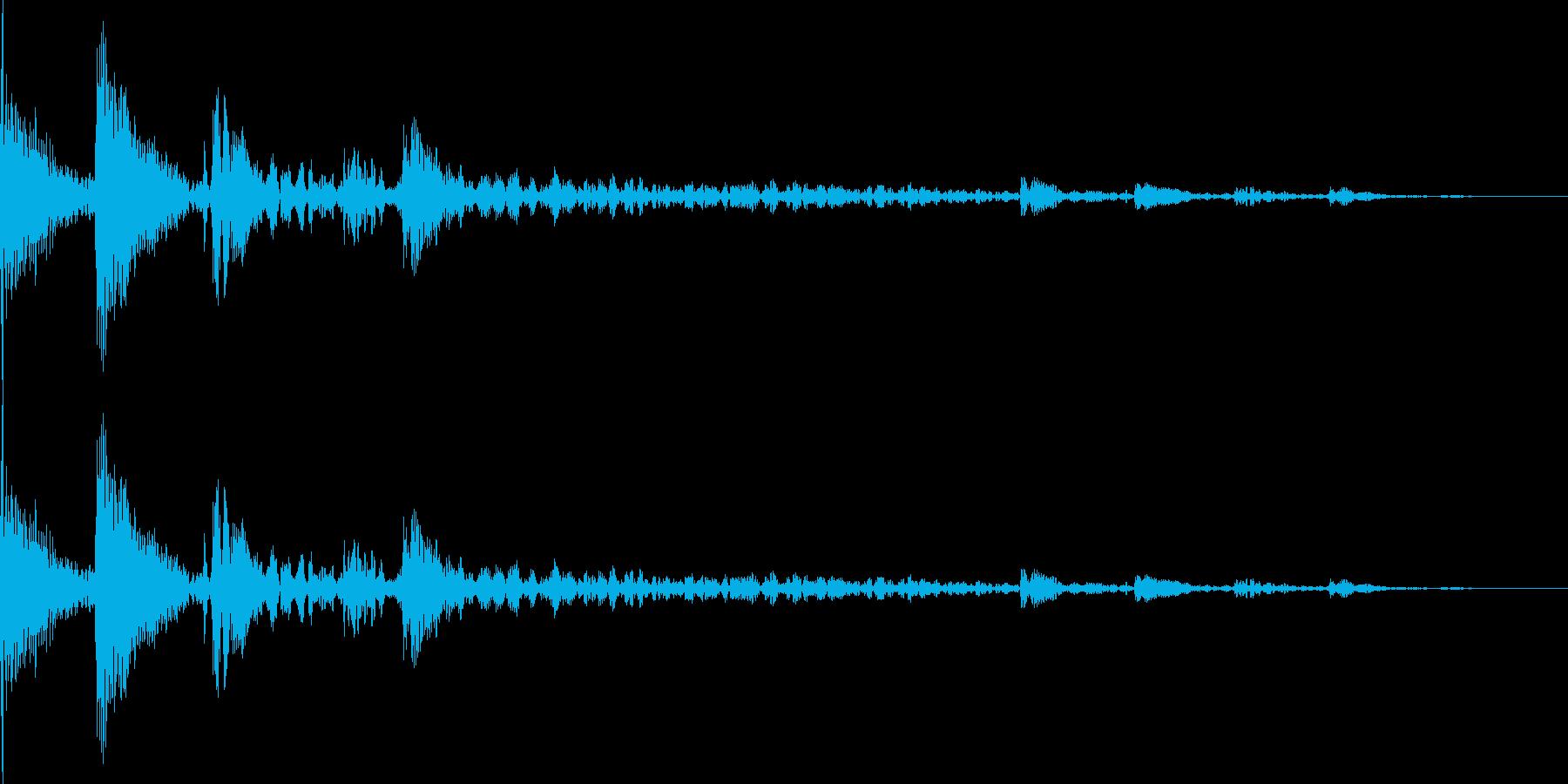 ぽうんぽうんぽうん… (魔法を使った音)の再生済みの波形