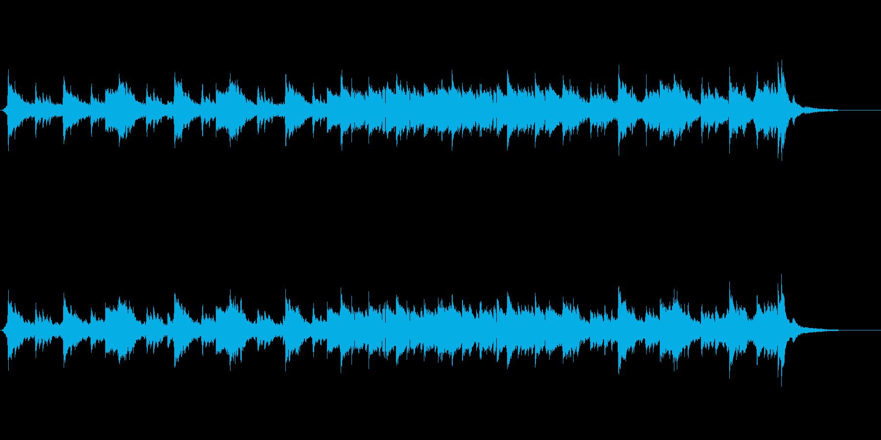 透き通るような旋律の環境音楽風の再生済みの波形