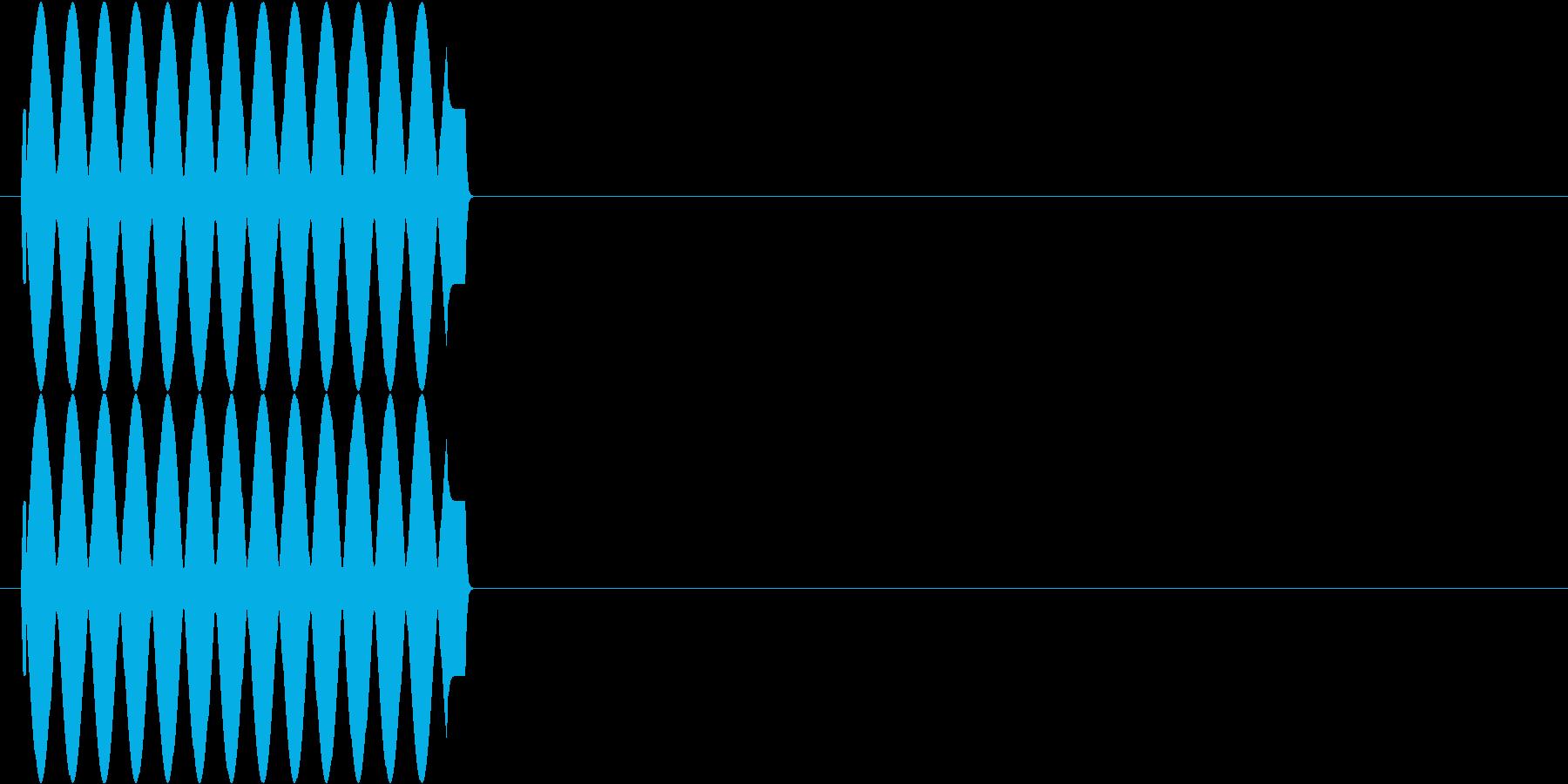 ハズレ エラー音 プ---♪の再生済みの波形