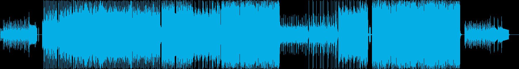 疾走感のあるノリノリなピコピコ曲の再生済みの波形