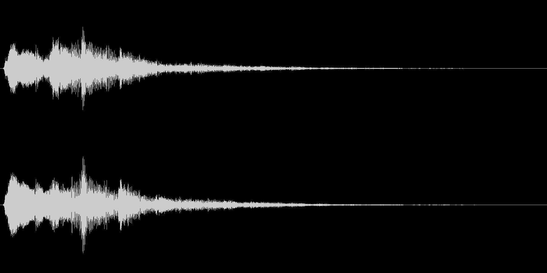 金属系バネ入り決定音(2音)高音の未再生の波形