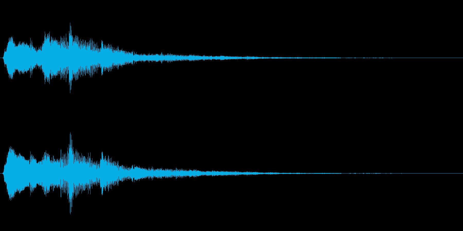 金属系バネ入り決定音(2音)高音の再生済みの波形