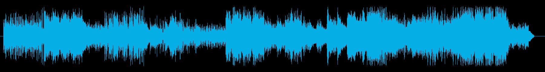 伝統的日本の和楽器の音色の再生済みの波形