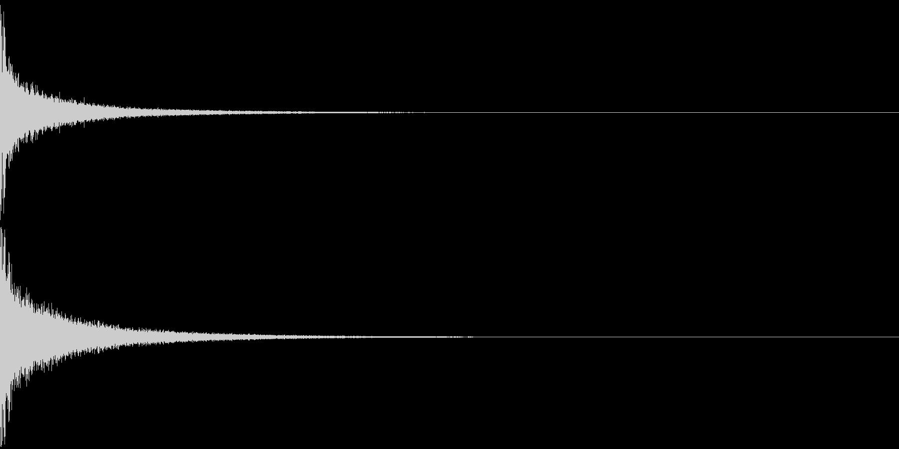 インパクト/ドラム/ヒット/パーン!/2の未再生の波形