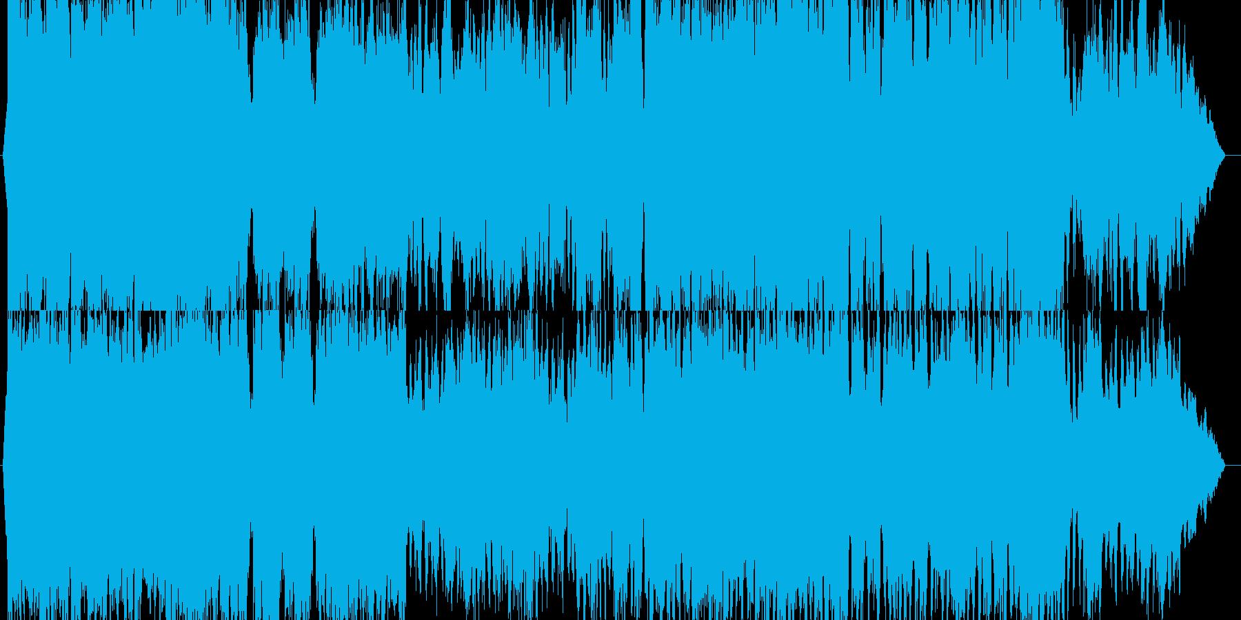 オーケストラのラストバトル曲の再生済みの波形