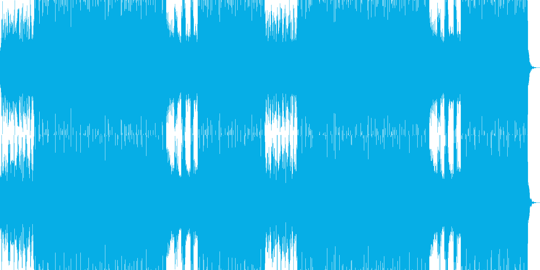 ボコーダーを使用したシンセポップの再生済みの波形