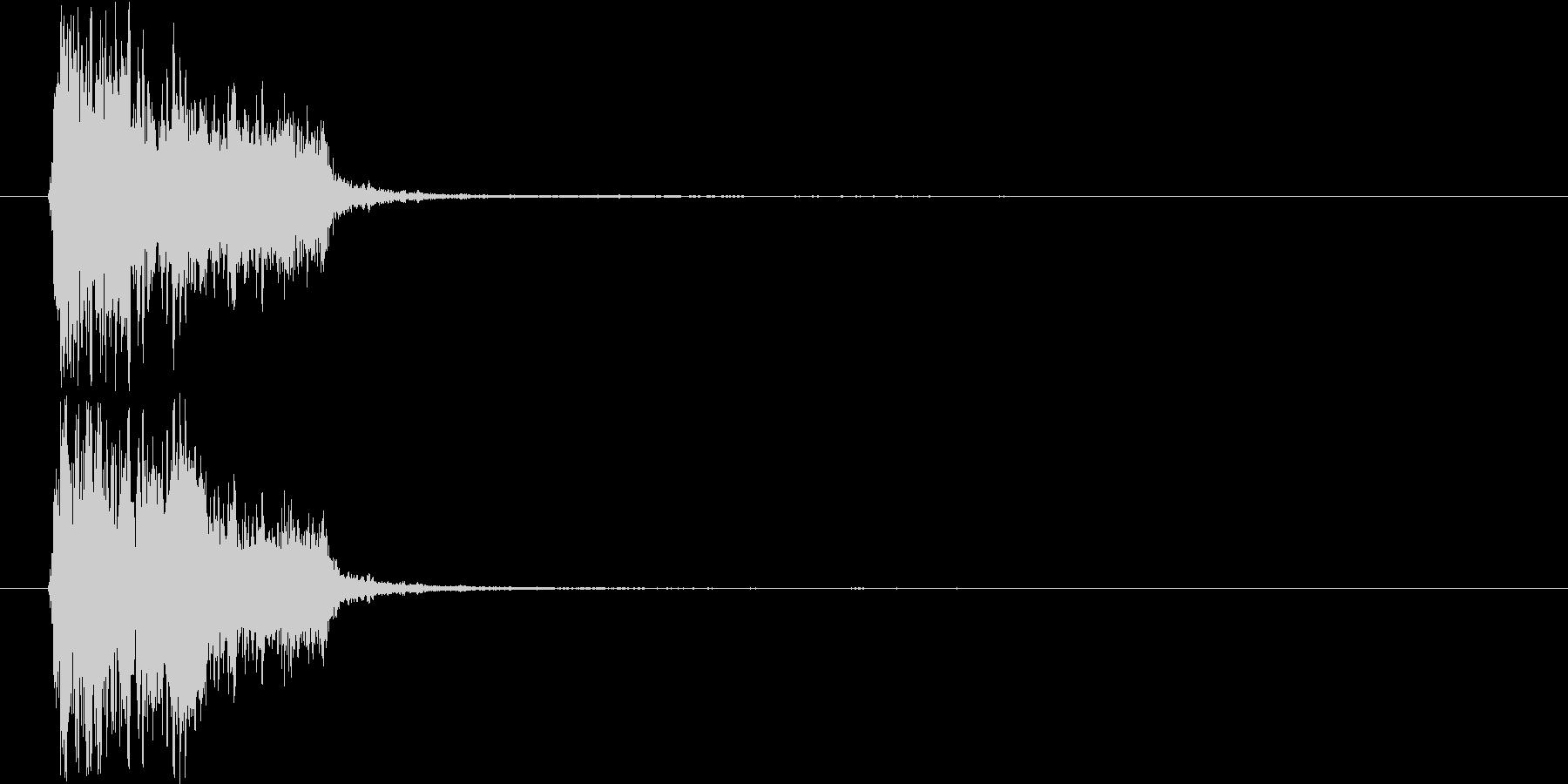 斬撃音3(大剣などの大きめの武器)の未再生の波形