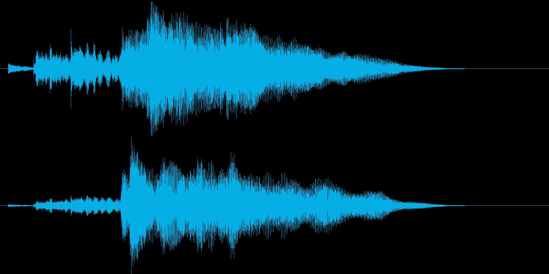 チリリーンの再生済みの波形