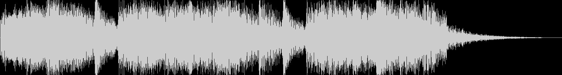 軽快で華やかなジングル 5秒verの未再生の波形
