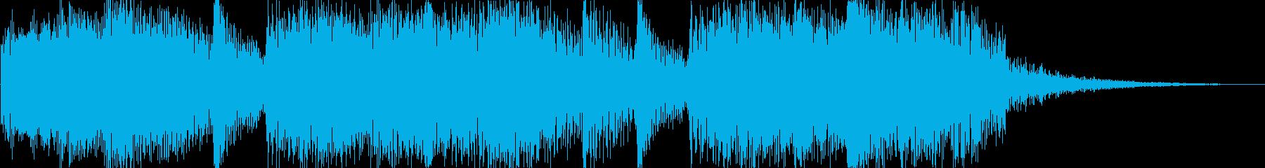 軽快で華やかなジングル 5秒verの再生済みの波形