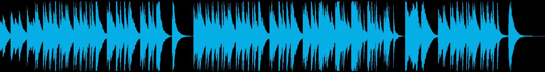 ゴージャスで優雅なゆったりピアノ!の再生済みの波形