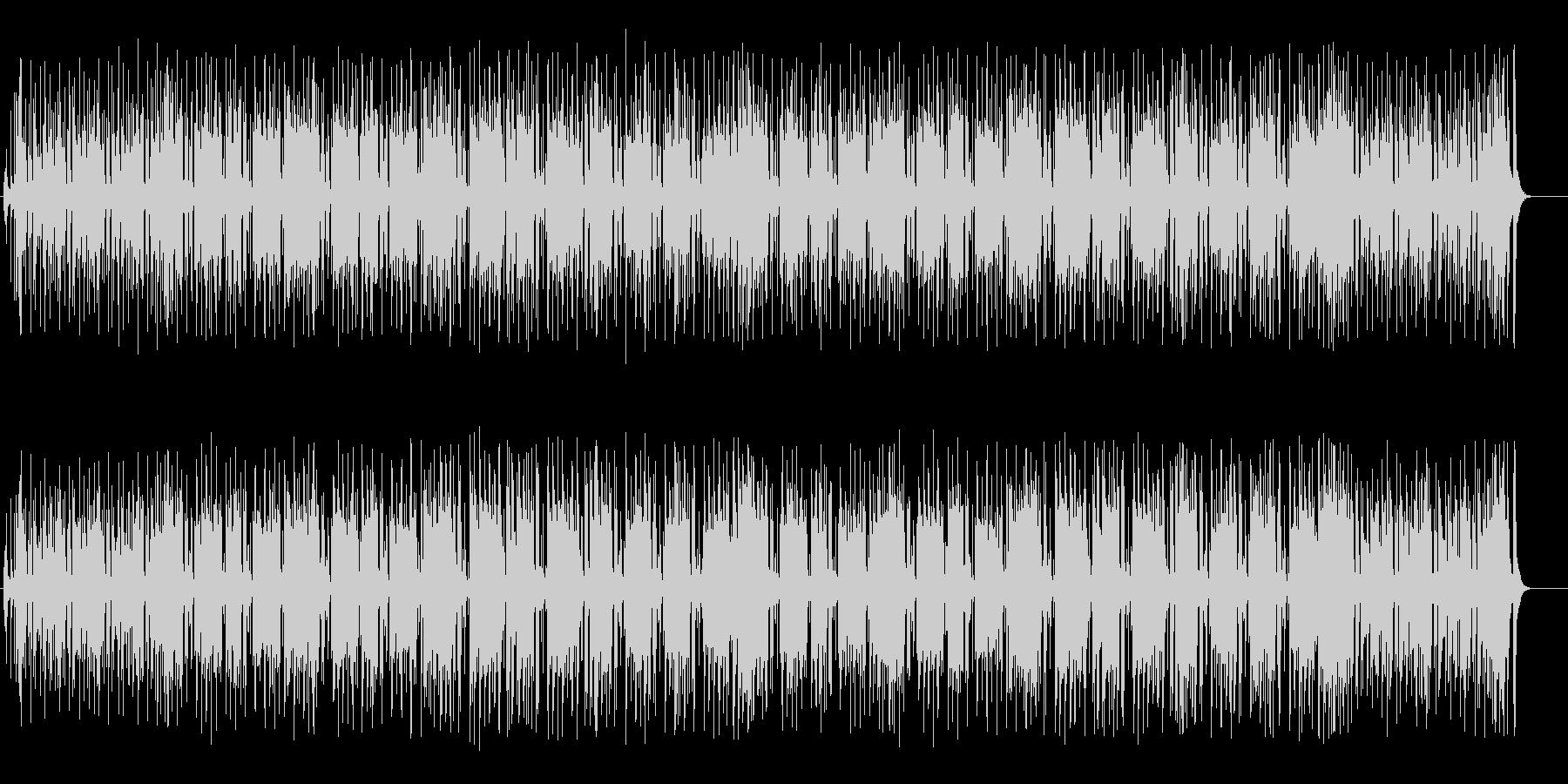 本格的シリアスタッチのレゲエの未再生の波形