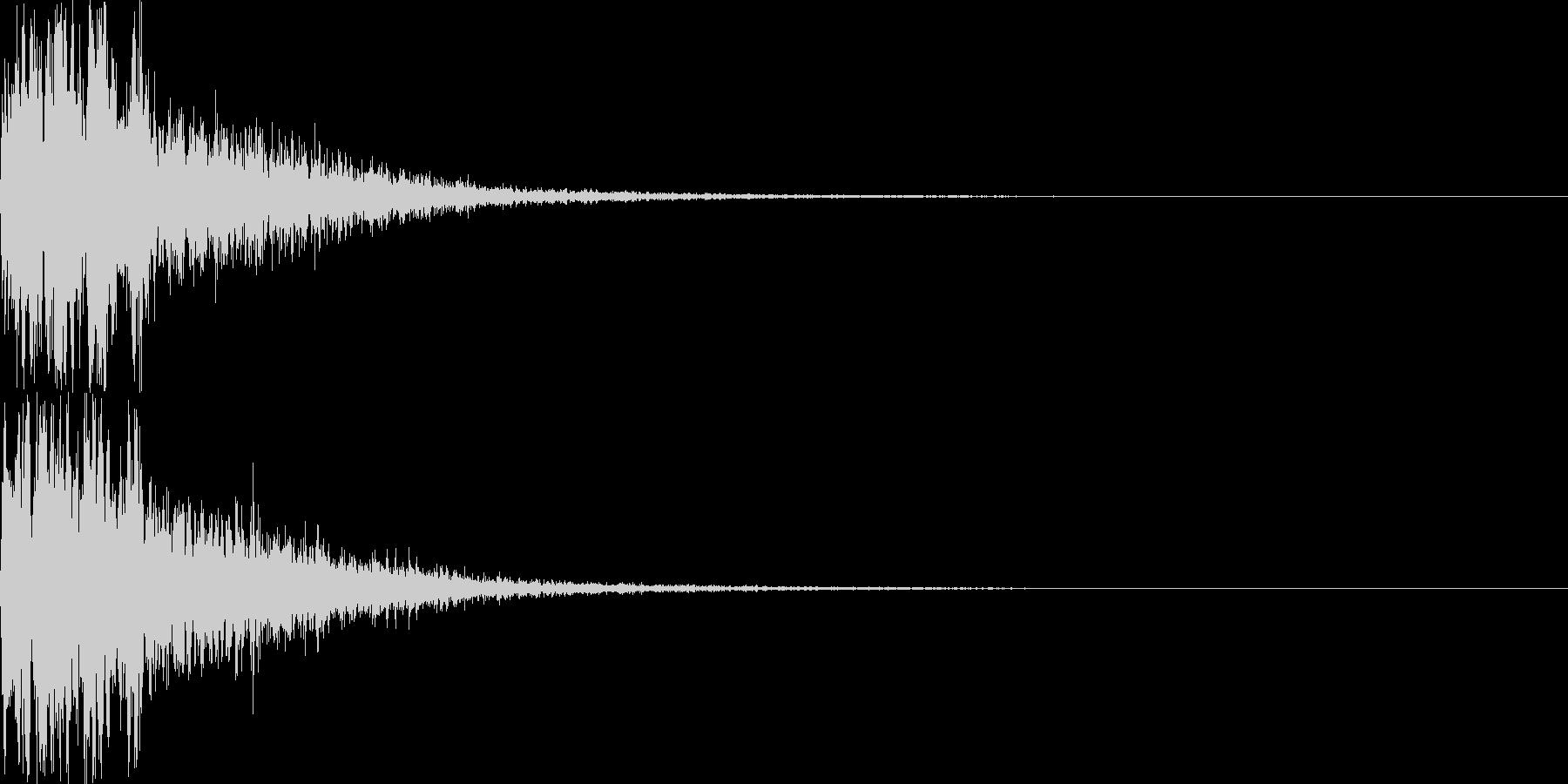 攻撃音16の未再生の波形
