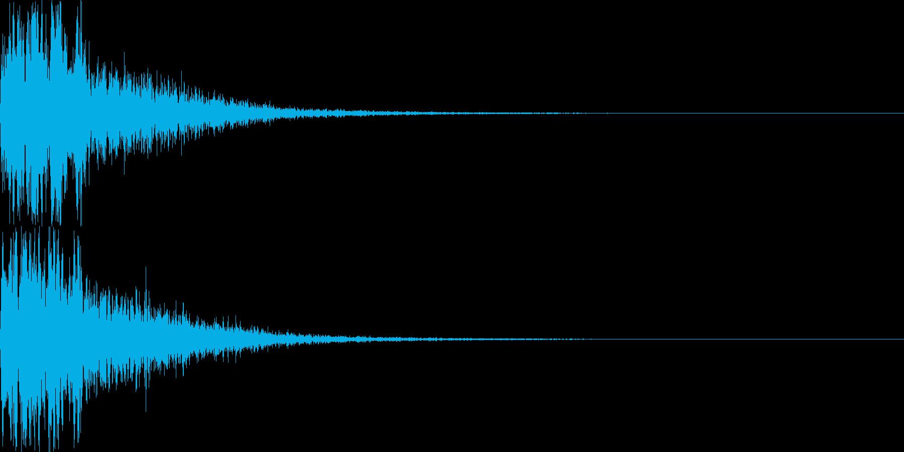 攻撃音16の再生済みの波形