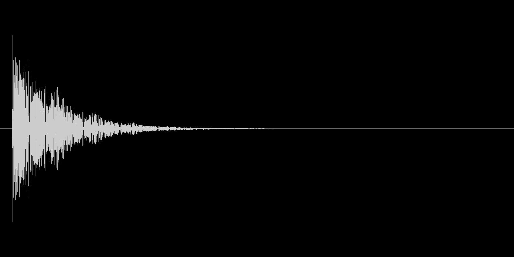 バンッ(射撃音)の未再生の波形