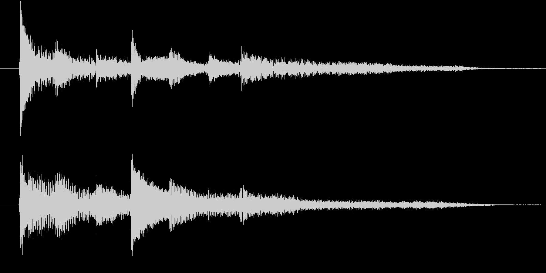 ピアノ転回音4の未再生の波形