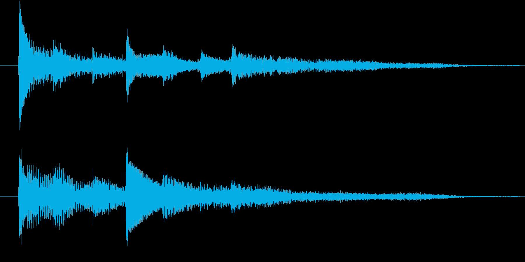 ピアノ転回音4の再生済みの波形