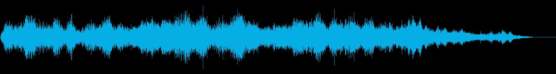 鐘が鳴り響く寺院の中にいるような音風景の再生済みの波形