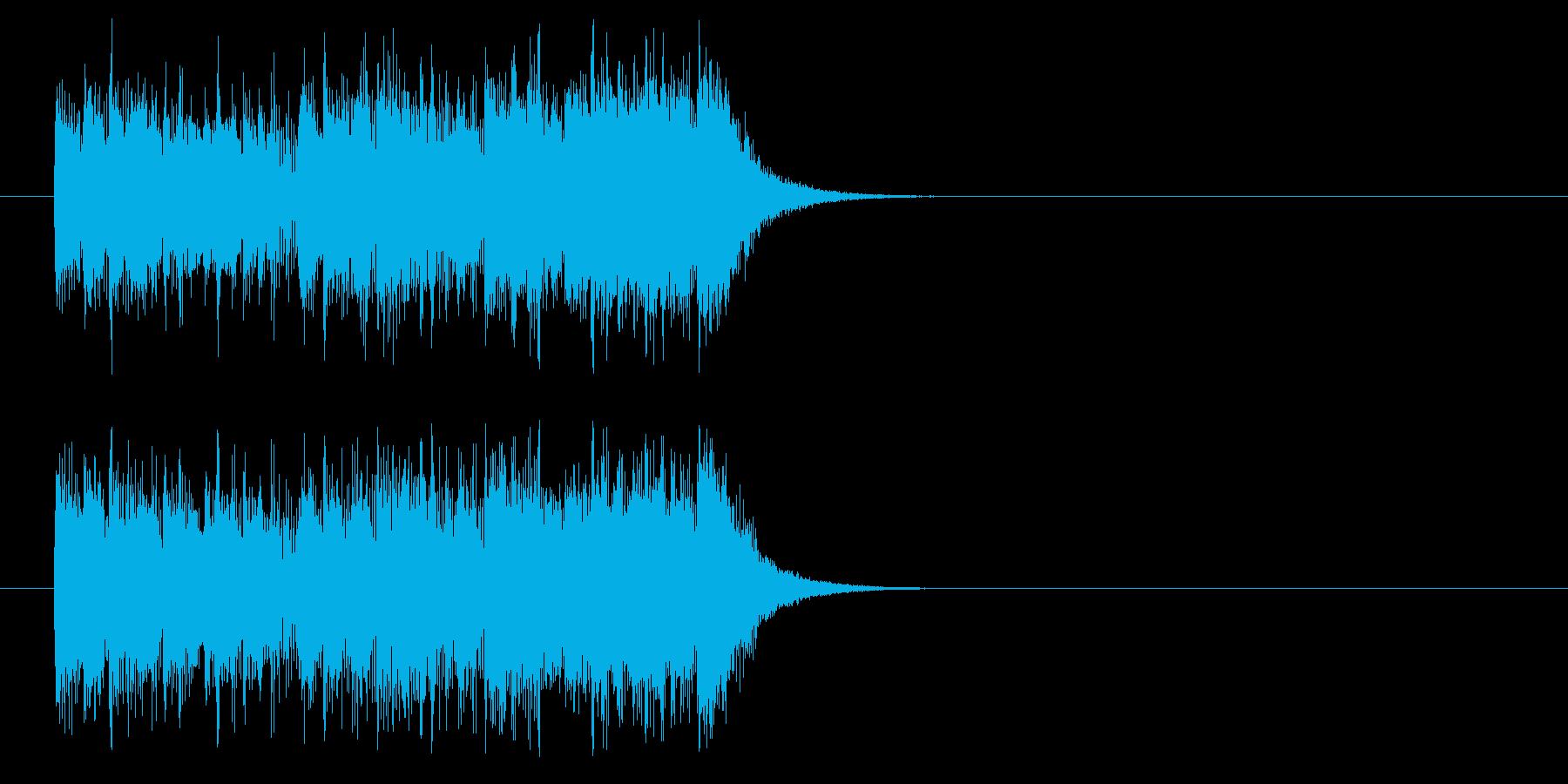 ジングル/テンポのいいポップの再生済みの波形