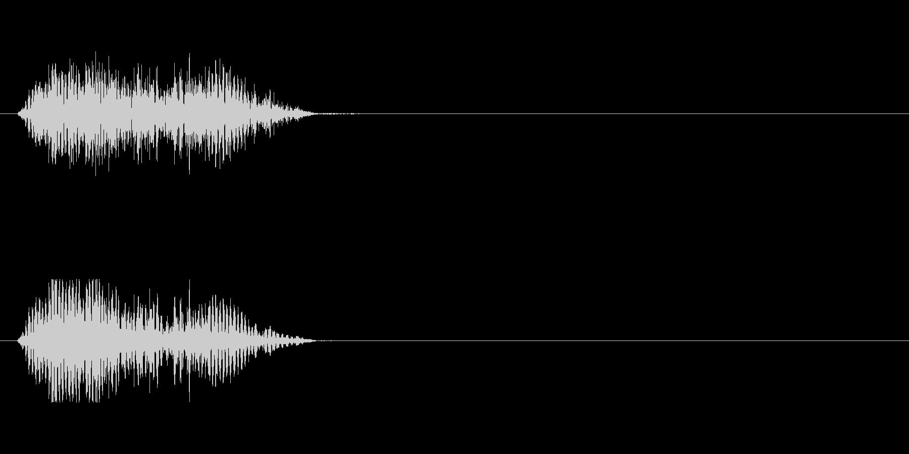 ゾンビのうめき声の未再生の波形