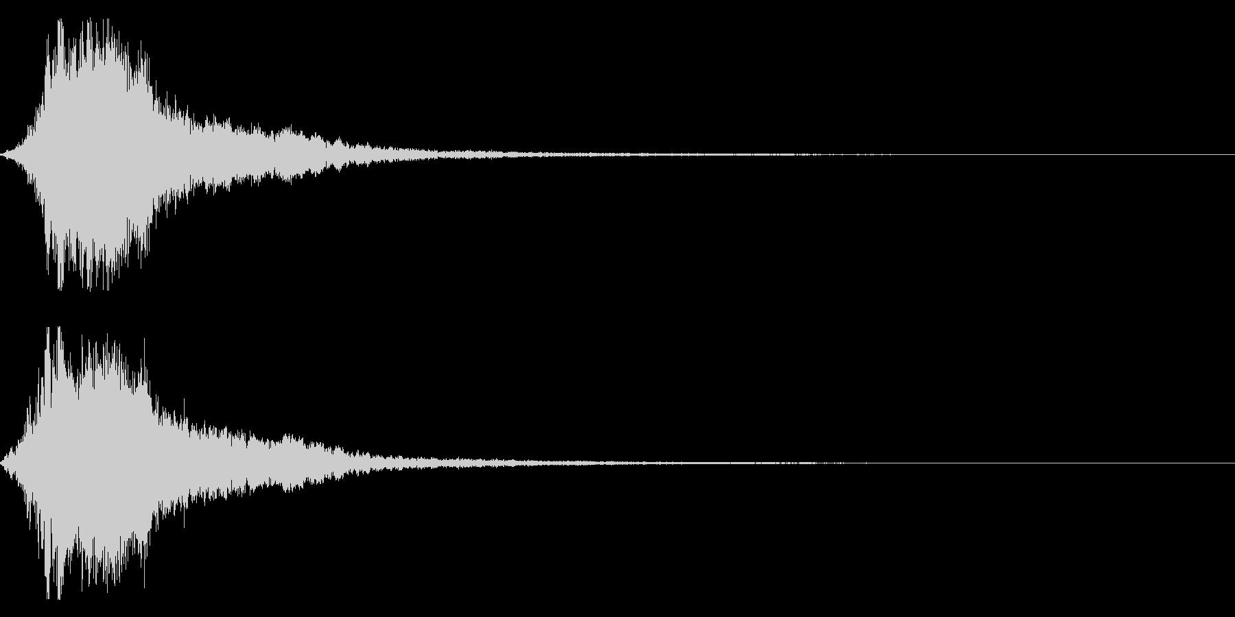シャキーン!勢いのあるインパクト音03cの未再生の波形