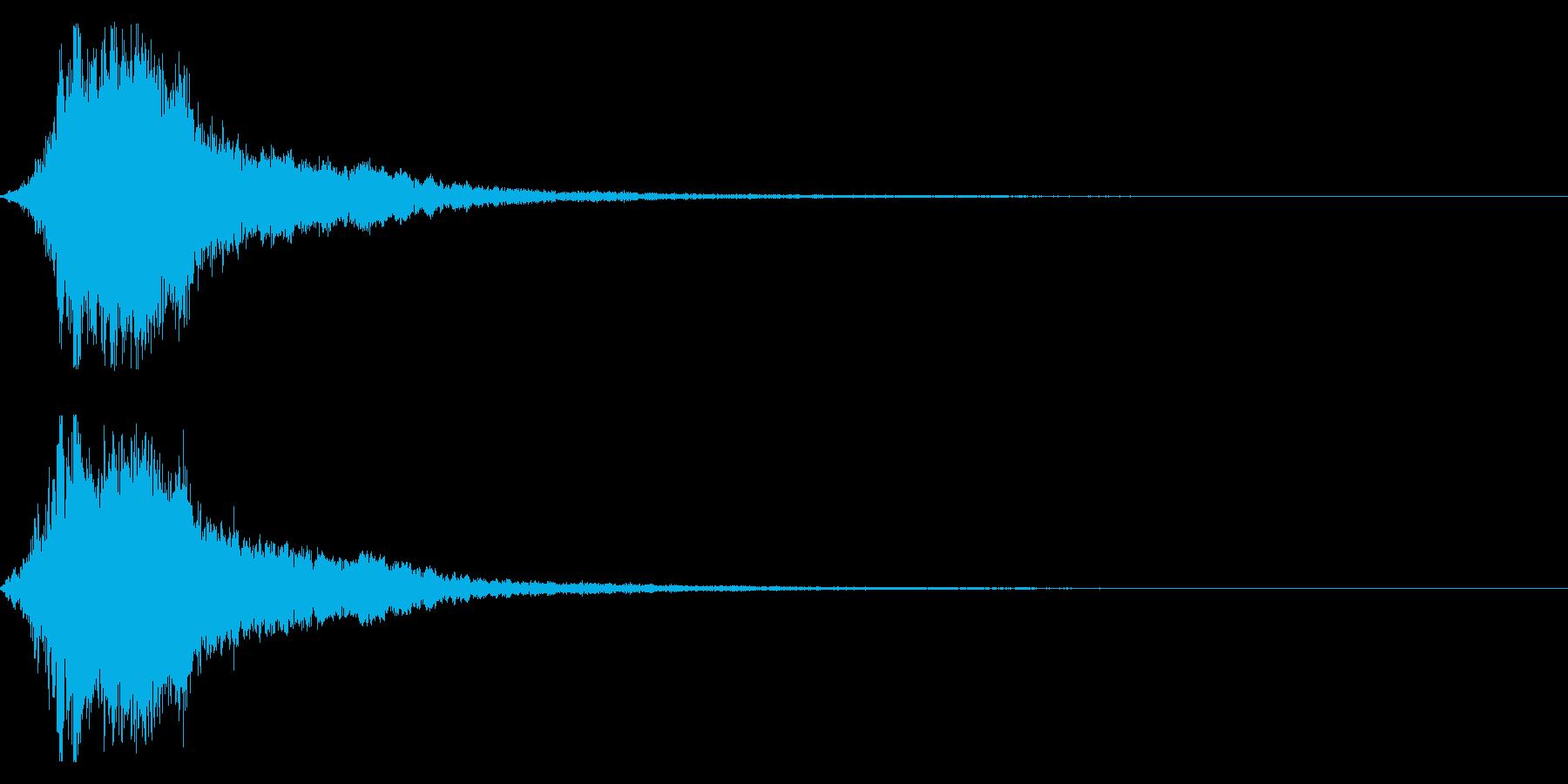 シャキーン!勢いのあるインパクト音03cの再生済みの波形