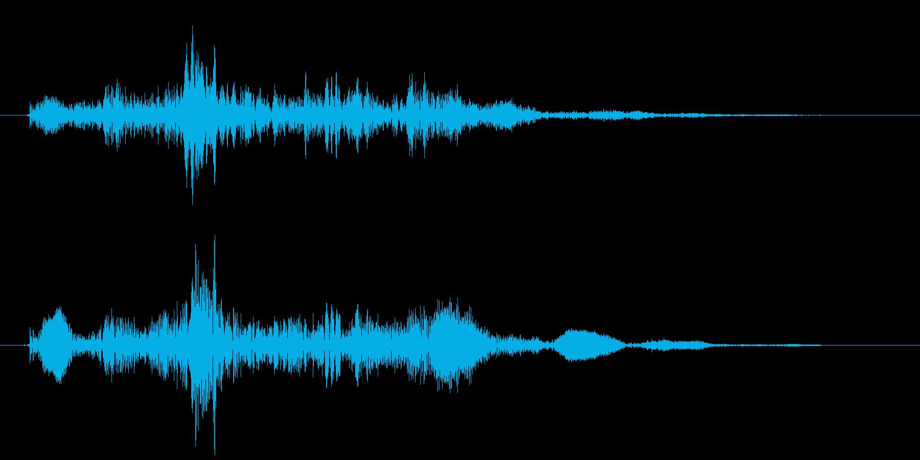 鞭を2回振り回すの再生済みの波形
