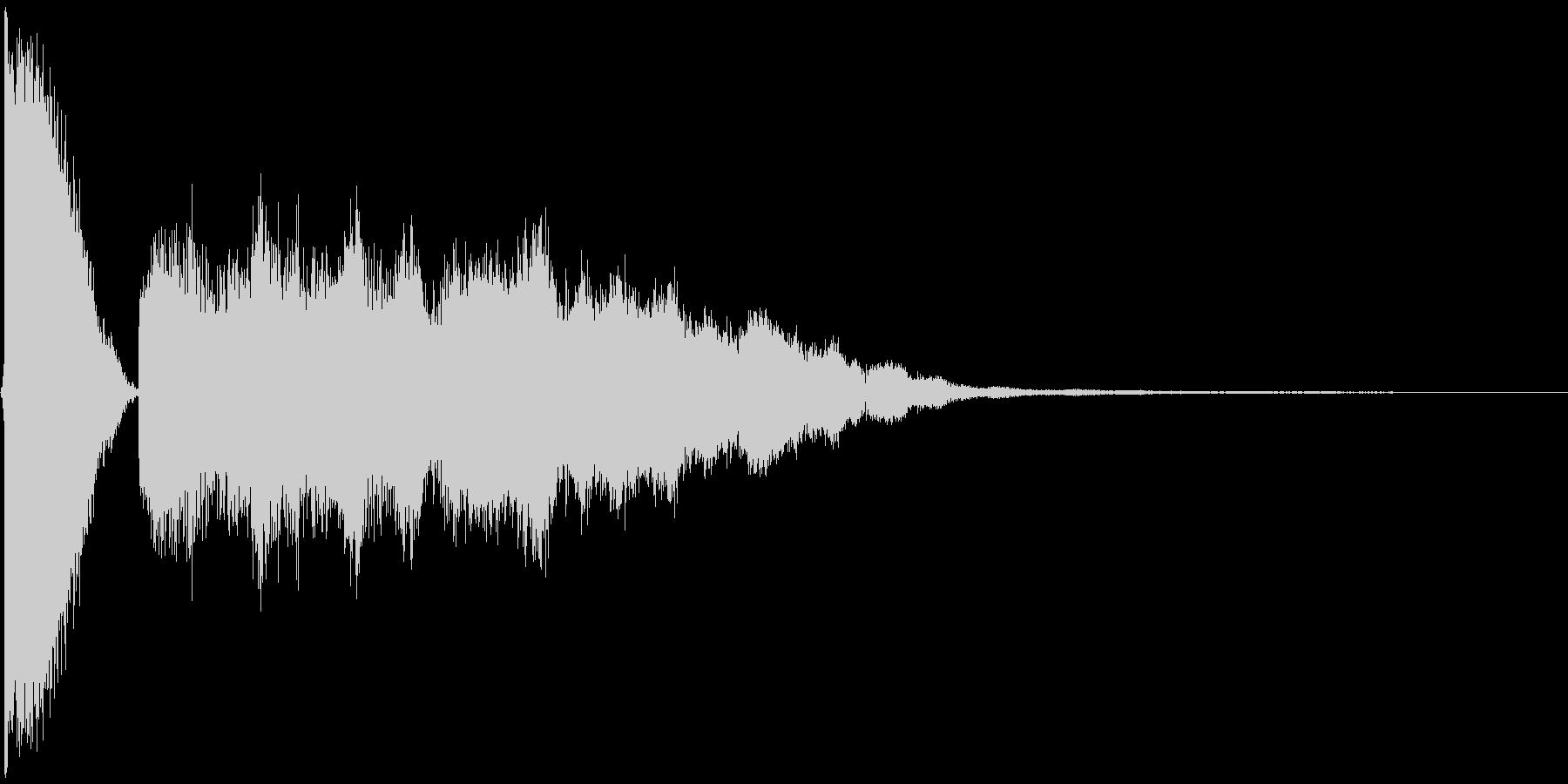 チュキーンの未再生の波形
