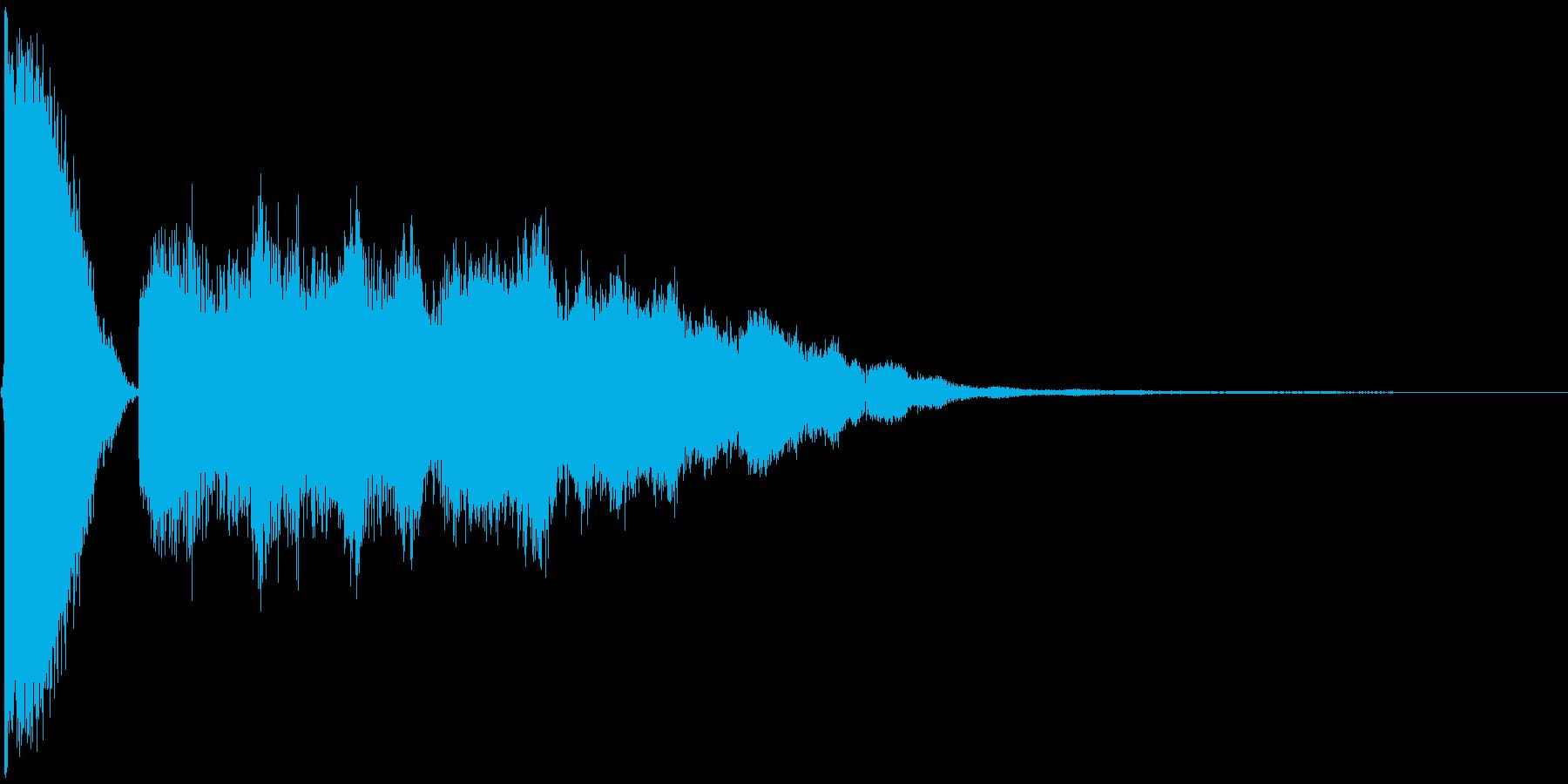 チュキーンの再生済みの波形