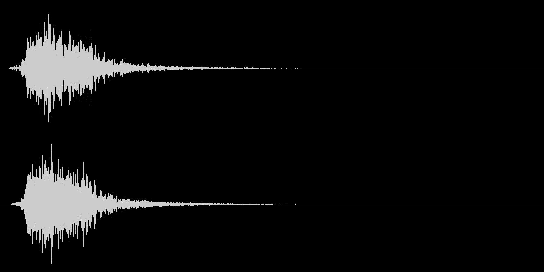 シャキーン!剣や刀、必殺技、インパクト1の未再生の波形