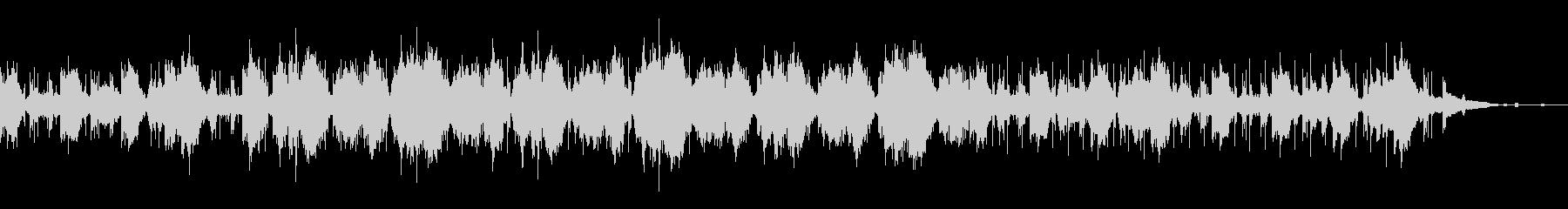 アンビエントなグリッジミュージックの未再生の波形