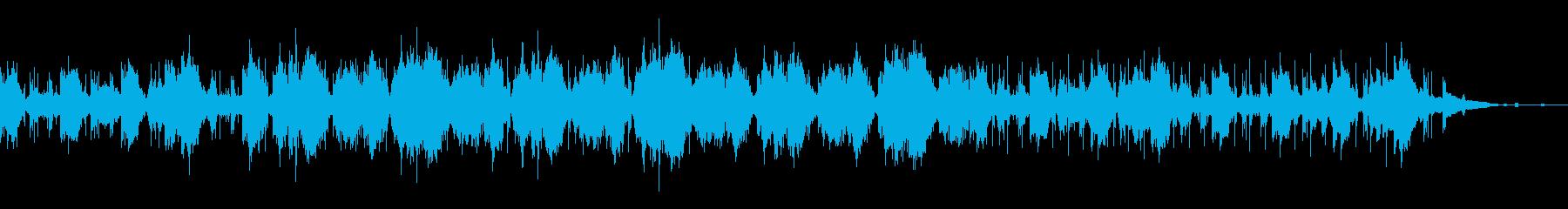 アンビエントなグリッジミュージックの再生済みの波形