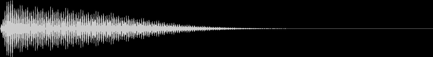 App キャンセル エラー音 ブー!の未再生の波形