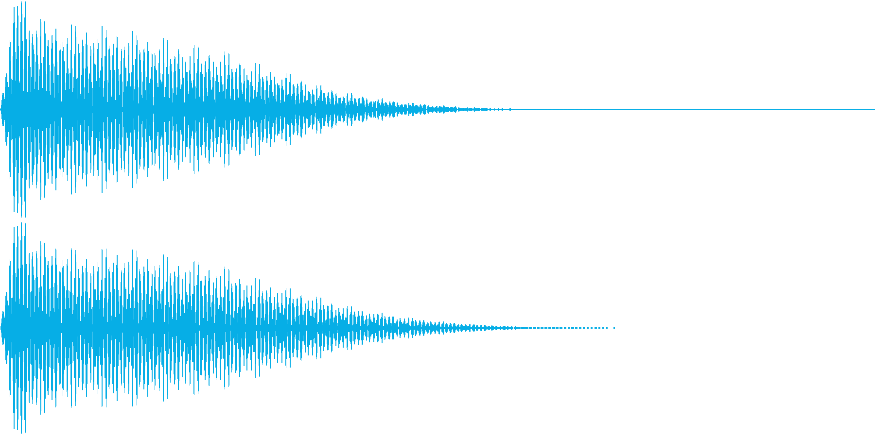 App キャンセル エラー音 ブー!の再生済みの波形