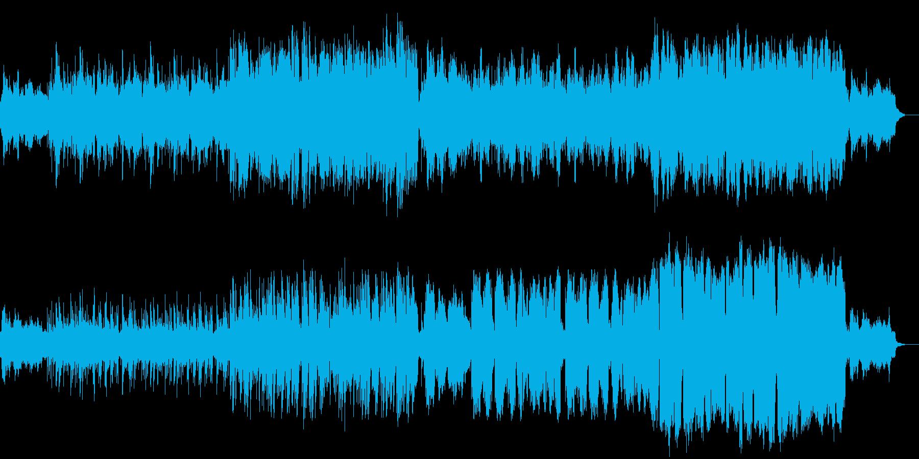 ピアノ中心の演歌風で哀愁感ある旋律の楽曲の再生済みの波形