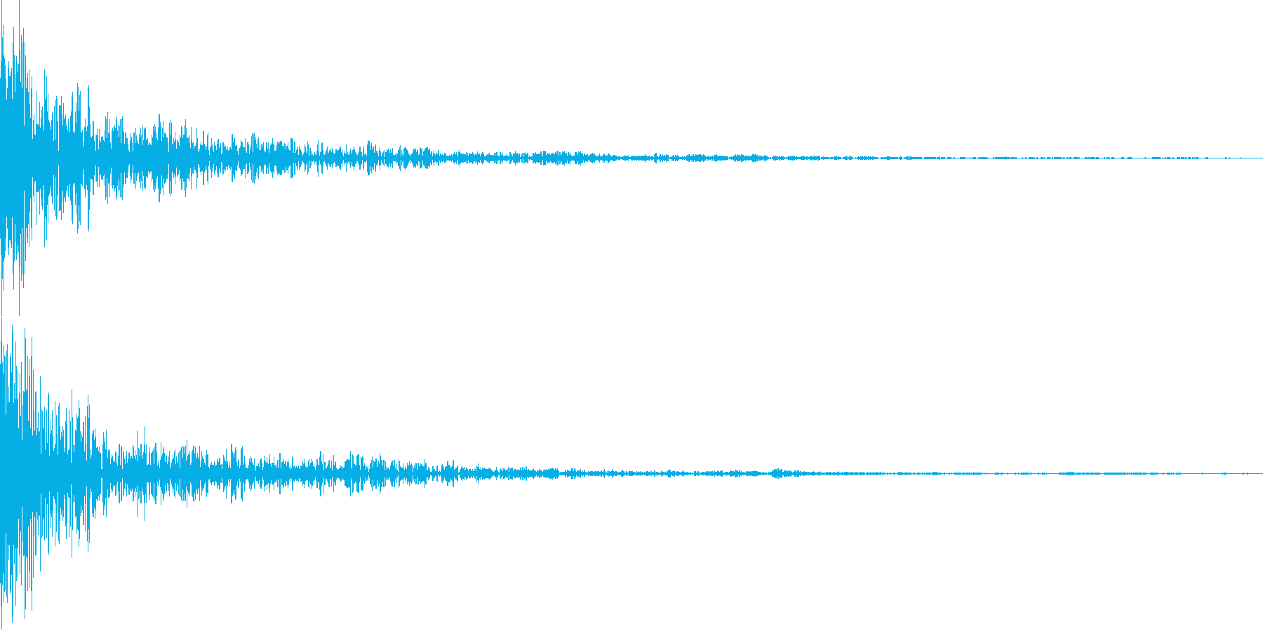 ドーン!(インパクト)の再生済みの波形