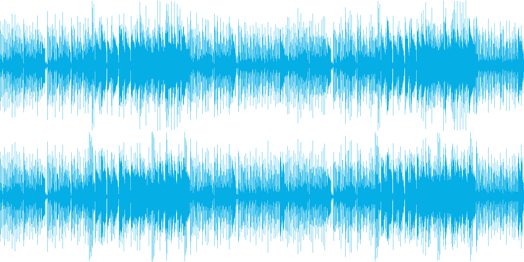 明るく、軽快なBGMの再生済みの波形