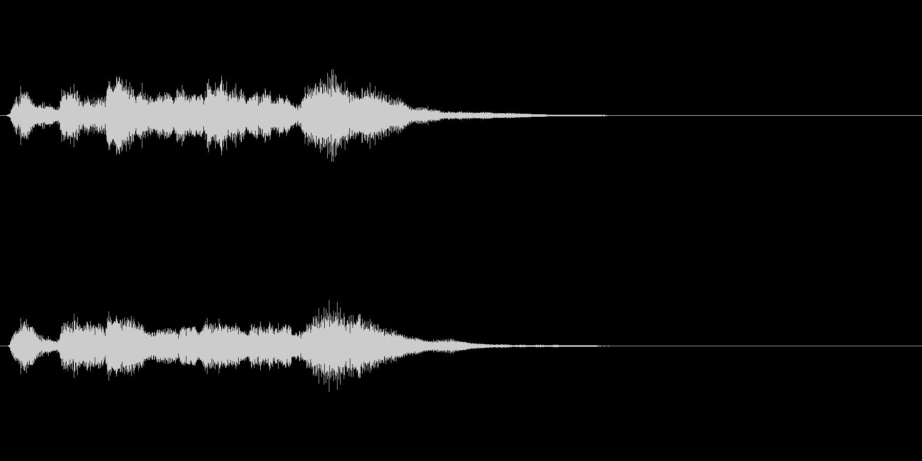 フルート等による可愛いファンファーレの未再生の波形