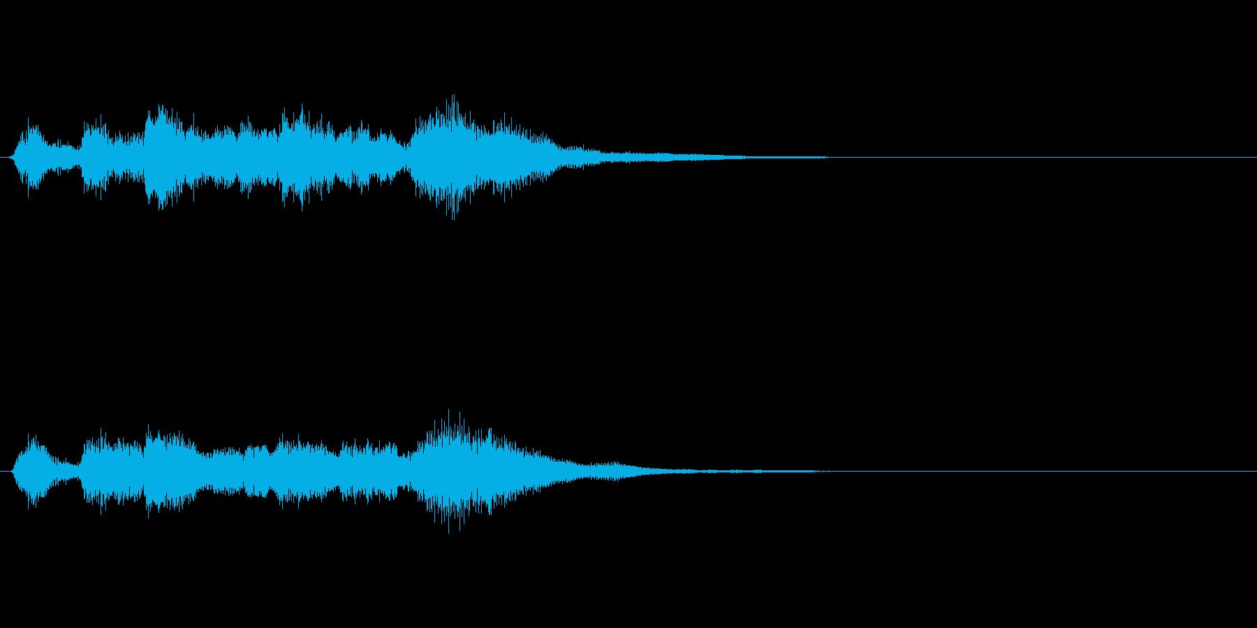 フルート等による可愛いファンファーレの再生済みの波形