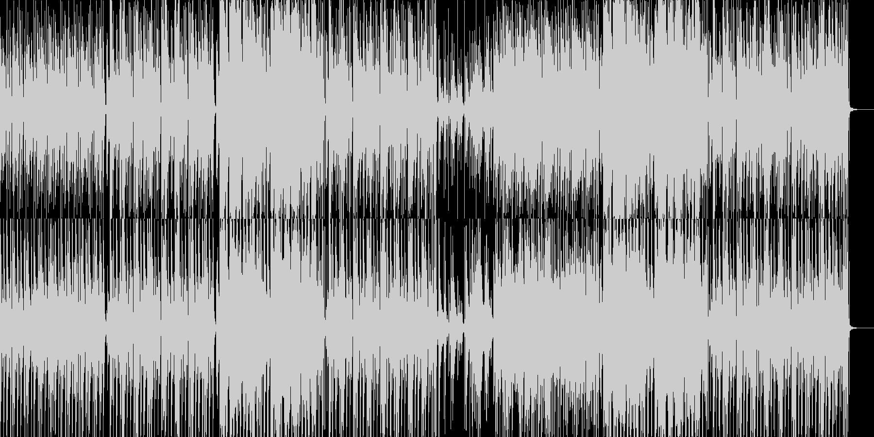ピアノとエレキとほのぼのとした笛の音の未再生の波形