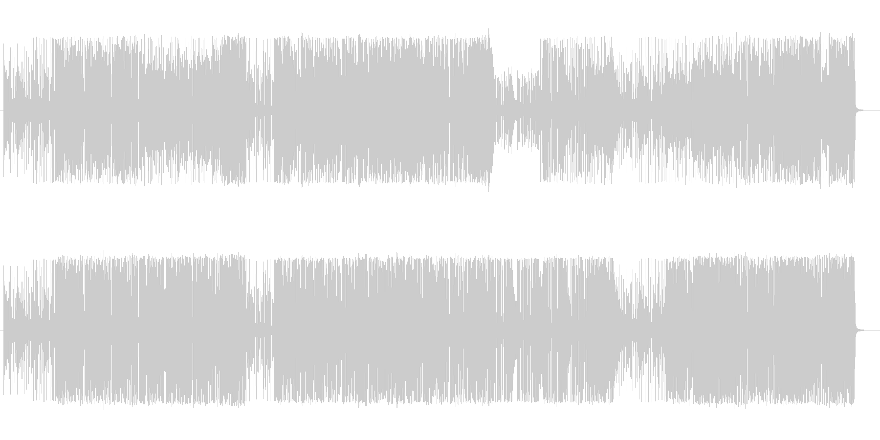 プログレ・民族音楽風変拍子の未再生の波形