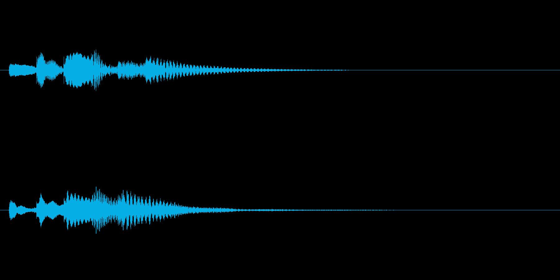 か↑ららららららん↓の再生済みの波形