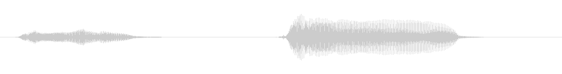 いった!(ダメージ)の未再生の波形