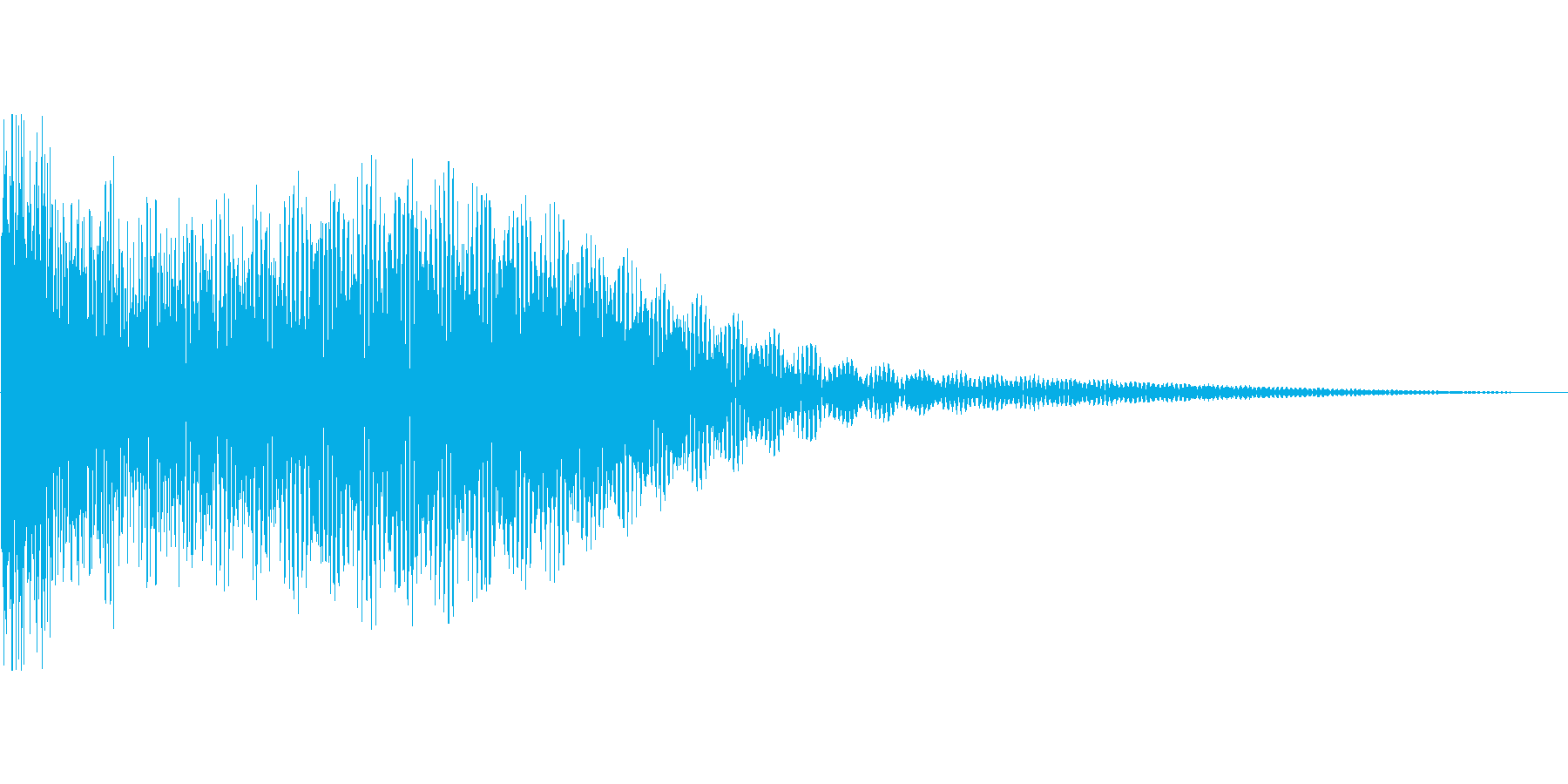鐘の音。除夜の鐘など。「ゴーン」の再生済みの波形