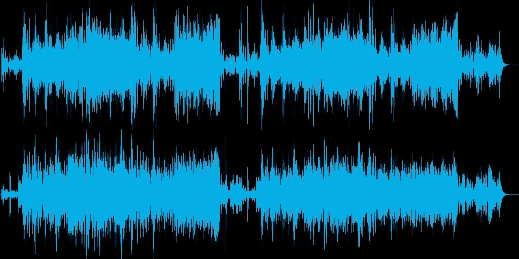 戦闘曲の再生済みの波形