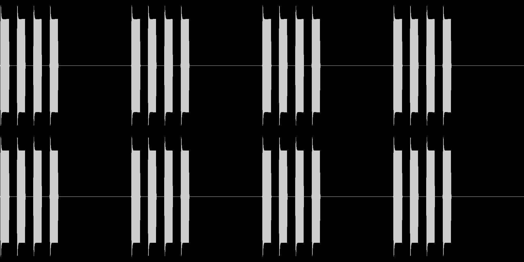 ピピピピッ!ごく普通のアラーム音2の未再生の波形