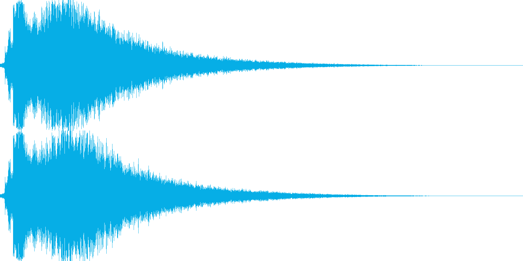 キラキラしたインパクト音の再生済みの波形